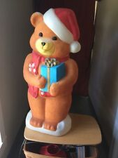 Blow mold  Empire lighted 36 inch Teddy bear Christmas yard decoration
