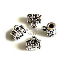 10 Bélières attache breloque arg 7x7x5mm Apprêts création bijoux bracelet _ A304