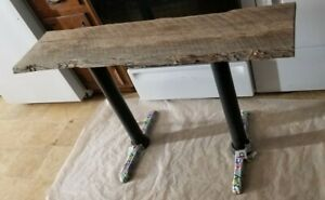 Red Oak Handmade live edge table metal legs. Entryway table 48x29Hx14widest