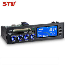 "5.25"" e-SATA LCD Panel PC CPU 4-Fan Speed Controller CF/MD/SD/MMC/MS Card Reader"