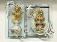 Cherished Teddies Baby Photo Frame Baby Rattle Ornament Lot of 2 Rare NIB New