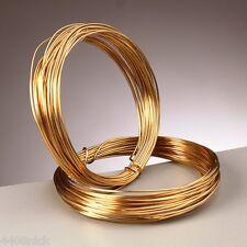 0.8 mm (20 Calibre) Real Oro Chapado Craft/Joyería Alambre - 6 metros