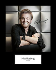 NICO ROSBERG #1 Signed Photo Print 10x8 Mounted Photo Print - FREE DELIVERY