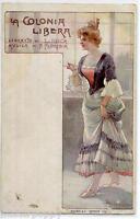 BELTRAME La Colonia Libera Opera Lirica Liberty Donnina PC Circa 1900