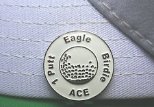 Great Expectations White Golf Ball Marker - W/Bonus Magnetic Hat Clip
