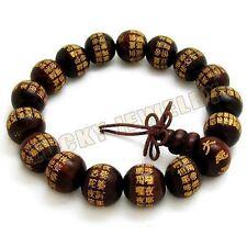 12mm Red sandalwood Mahakaruna Sutra Tibet Buddhism Bracelet
