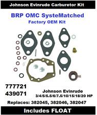 BRP Johnson Carburetor Carb Kit 3 4 5 5.5 6 7.5 10 15 18 20 HP 439071 See Chart