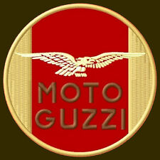 "MOTO GUZZI EMBROIDERED PATCH ~4-1/4"" MOTORCYCLE BORDADO AUFNÄHER BIKE"