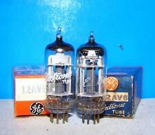 12AV6 GE NOS vacuum tubes 2 valves vintage electron radio amplifier tested 12AV6
