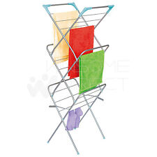 3 Tier Folding Clothes Airer Horse Indoor Outdoor Laundry Dryer Rack Hanger Rail