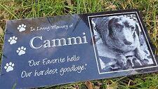 Memorial Headstone 6x12 human grave marker Dog Cat Pet Temporary marker Stone 41