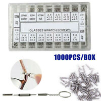 1000 Tiny Eyeglasses Sun Glasses Spectacles Screws Repair Tool Kit Screwdriver