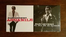 MARC ANTHONY: Aguanile & El Dia De Mi Suerte PROMO CDs Mint Sealed Lot of 2