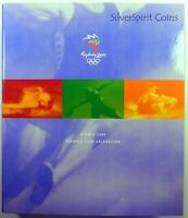 2000 SYDNEY OLYMPIC GAMES WITH MEDALLION Coin Set in Book