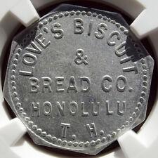 Territory of Hawaii Token - Love's Biscuit & Bread, Honolulu T.H. - Ms63 Ngc, Hi