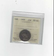 **1909**, ICCS Graded Canadian,  25 Cent, **EF-40**