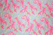Lilly Pulitzer DOBBY Cotton Fabric~ Pop Up Lobstah Roll ~1 yard