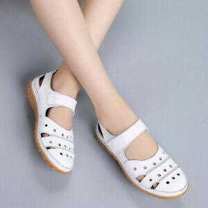 Women Orthopedic Sandals Comfy Closed Toe Mules Summer Slippers Flat Shoes Sizes