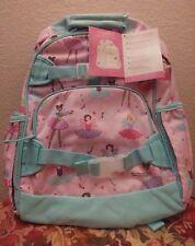 New Pottery Barn Kids Classic Fairy Large Backpack Pink Aqua No Mono