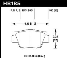 Disc Brake Pad Set Rear Hawk Perf HB185N.590 fits 1991 Acura NSX