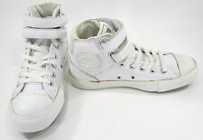 Converse Shoes Chuck Taylor 2 Strap Hi Leather White Sneakers Men 5 Womens 7