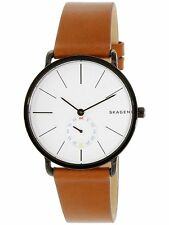 Skagen Men's SKW6216 Brown Leather Japanese Quartz Dress Watch