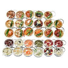 1X Simulation Food Key Chains Chinese Food Bowl Keyring Creative Bag Chain