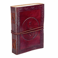 Fair Trade Handmade Eco Yin Yang Design Embossed Leather Journal 2nd Quality