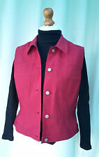 MEXX Red sleeveless 5 button stretch waistcoat gilet size 16 RRP£35 Bargain Gift