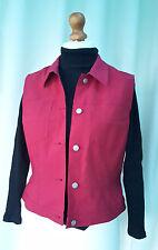 MEXX Red sleeveless 5 button stretch waistcoat gilet size 16 RRP£35 XMAS Gift
