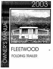 COLEMAN Trailer Owners Manual- 2003 Grand Tour Elite Bayside Monterey Niagara