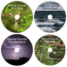 NATURAL SOUNDS HEALING DEEP RELAXATION STRESS RELIEF SLEEP 4 CALMING NATURE CD's