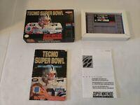 Super Nintendo, TECMO SUPER BOWL (COMPLETE) Boxed cib SNES