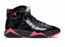$190 Air Jordan 7 Retro Women's Black Patent Infrared 313358-006 Sz 8   6.5y