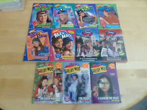 11 Books Vtg 90s Nickelodeon Shelby Woo/Secret World of Alex Mack,Shirley Holmes