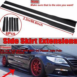 86.6'' Side Skirt Panel Splitter Lip Matte For VW Golf MK5/6 MK7 MK 7.5 GTI R