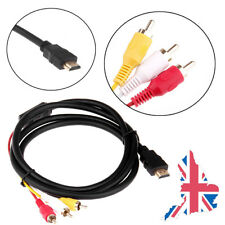 1.5M HDMI Audio Video AV Converter Adapter Cable Male to 3 RCA For Apple TV HDTV