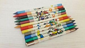 USSR Soviet vintage wooden colored pencils Etude Set of 6 colors 5 packs 145 mm