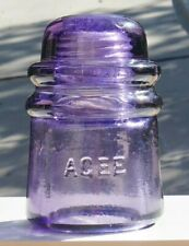 Purple AGEE CD 121 Glass Insulator - Outstanding Condition