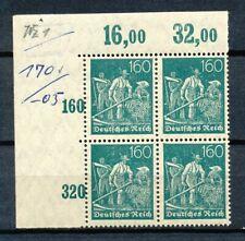 Reich 170  2 x POR in blok van vier postfris