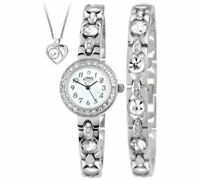Limit Ladies' Gold Coloured Watch,Gold Plated,Silver Pendant And Bracelet Set_UK