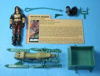 1984 GI Joe Zartan Dreadnok v1 Figure w/ File Card & Chameleon Swamp Skier *READ