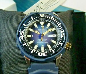 SEIKO SUPERIOR 200m DIVER'S BABY TUNA CAN BLUE SRP453K1 LIMITED EDITION WATCH