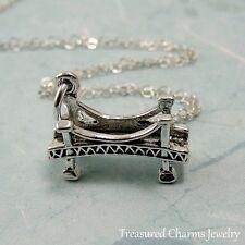 925 Sterling Silver Bridge Charm Necklace - Golden Gate Bridge Pendant Jewelry