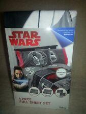 New Disney Star Wars Last Jedi Full Size Sheet Set Kids Bedding Microfiber