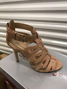 Breckelle BK35 Women Leatherette Studded Open Toe Gladiator Stiletto Heel Sandal