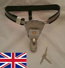 Full Male Chastity Belt Device Stainless Steel with solid Hole Cover 65 - 110cms
