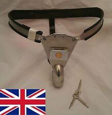 Full Maschile castità Cintura Dispositivo Acciaio Inox con solido Foro Cover 65
