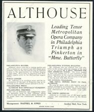 1918 Paul Althouse photo opera singing recital booking vintage trade print ad
