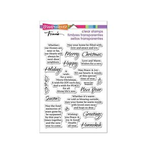 Christmas Words Stamp Times Together Stampendous Clear Cling Stamps SSC1418